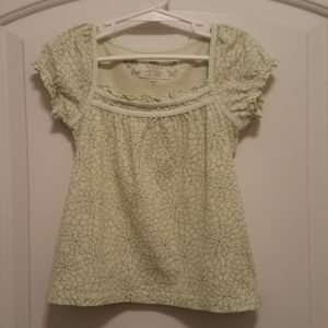 *5 For $20* Light Green Floral Print Pattern Top